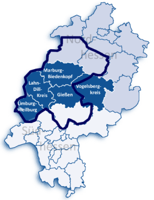 Einzugsgebiet Aidshilfe Mittelhessen